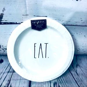 Rae Dunn EAT. Dessert Paper Party Plates x 16